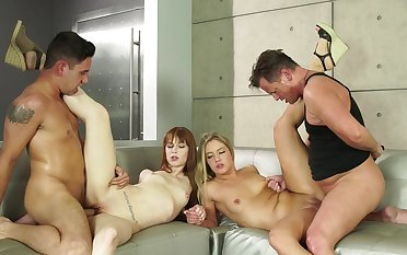 The perfect foursome for Candice Dare and Alexa Nova