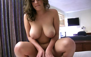 Fat girlfriend riding on a cock