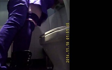 Caught Couple Sexual connection First of all Public Restroom Spycam Voyeur