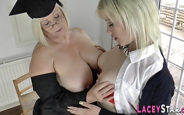 Grandma licks blond hair wholesale rump - mummy